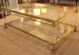 Brass Glass Coffee Table A 1960s Brass Glass 2 Tier Coffee Table Stock Blanchard