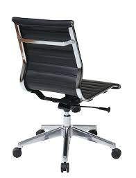 modern leather desk chair amazon com office star mid back eco leather seat and back with