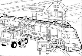 kleurplaten lego city trein dessincoloriage