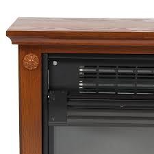 large room infrared quartz electric fireplace heater honey oak