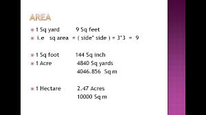 sqft to sqmeter 1 acre is equal to how many sq yard youtube