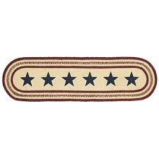 48 inch table runner potomac braided 48 inch table runner with stars by vhc brands the