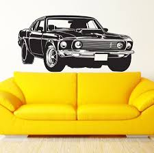 wall murals vinyl promotion shop for promotional wall murals vinyl stylish shelby gt ford mustang muscle racing car wall mural vinyl art decor sticker vinyl wall decal mural wall sticker w 929