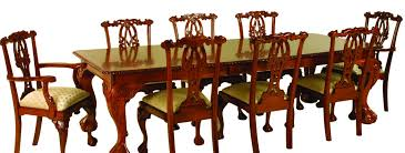 Chippendale Heavy Carved  Leaf Dining Table Dining Tables - Chippendale dining room furniture