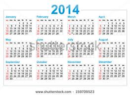 template calendar 2014 year stock vector 159711374 shutterstock