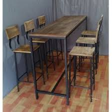 wooden high bar table metal and wood tall bar table for 6 google search bar tables