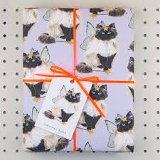cat wrapping paper cat eco recycled wrapping paper by blank inside