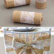 burlap chair sashes compare prices on burlap wedding chair sashes online shopping buy