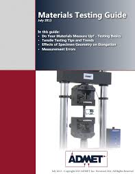 admet materials testing guide pdf download available