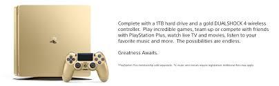 amazon com playstation 4 slim 1tb gold console discontinued