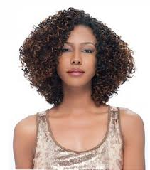 short weave hairstyles for thick curly hair with highlights for