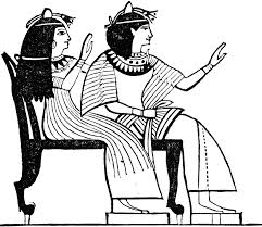 Egyptian Chair Egyptian Double Chair Clipart Etc