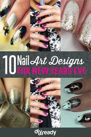 new year u0027s themed nail art diy projects craft ideas u0026 how to u0027s for