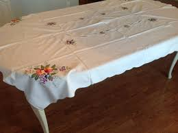 thanksgiving tablecloths embroidery on quality cotton ambiance