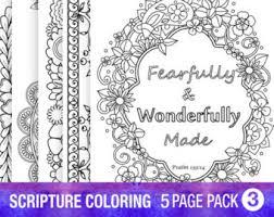5 bible verse coloring pages floral diy prayer