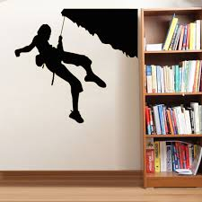 extreme sports home decor rock climber climbing silhouette wall