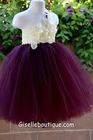 eggplant colored flower dresses junoir bridesmaid dresses