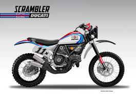 martini design ducati scrambler baja martini racing by oberdan bezzi at