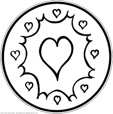 printable children coloring page energy heart mandala flickr