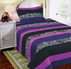 amazon com mk collection 2 pc bedspread teens girls zebra leopard