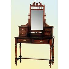 Oak Vanity Table With Drawers Bedroom Furniture Bedroom Carved Broken White Polished Oak Wood