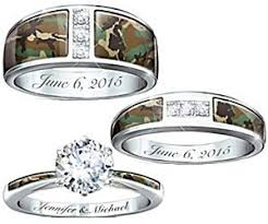 his and camo wedding rings camo his and hers wedding ring set buy this bling