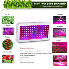 4pcs Wholesale Full Spectrum 1200W Double Chip LED Grow Light Red