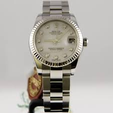 diamond rolex pre owned rolex oyster perpetual diamond datejust lady 31 178274