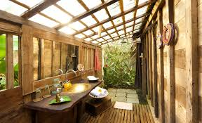 in several of the properties indoor outdoor showers allow you to