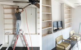sarah sherman samuel house update diy built in shelving sarah