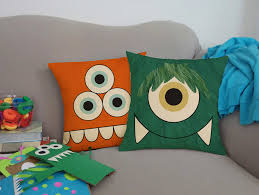Square Sofa Pillows by Cute Monster Pillows Silly Critters Kids Square Throw Pillows