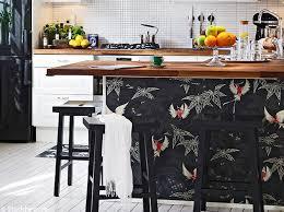 cuisine papier peint le papier peint dans une cuisine ça change tout décoration