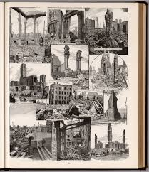 Chicago Columbian Exposition Map by Ruins Of Great Chicago Fire 1871 David Rumsey Historical Map
