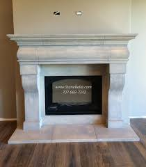 fireplace mantle surround cast stone old world hearth mantel