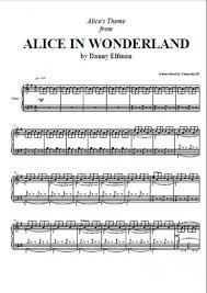 unforgiven theme song alice in wonderland alice s theme danny elfman piano plateau