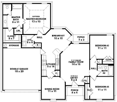 4 bedroom house plans one 4 bedroom 3 bath house plans one everdayentropy com