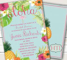 luau invitation aloha luau bridal shower hawaii invitation