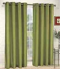 Sage Green Drapes Modern Sage Green Brown Beige Faux Silk Taffeta Grommet Window Ebay