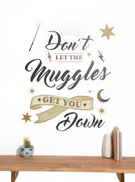 harry potter don t let the muggles get you down wall decal hot topic harry potter don t let the muggles get you down wall decal hi loading zoom