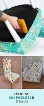 How To Reupholster A Bar Stool The 25 Best Recover Dining Chairs Ideas On Pinterest