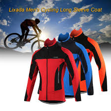 mens lightweight waterproof cycling jacket amazon com lixada men u0027s outdoor cycling jacket winter thermal