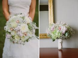 baby s breath bouquets wedding bouquet with ivory roses orchids babys breath
