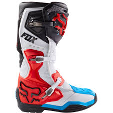 dirt bike racing boots fox racing comp 8 boots red white sixstar racing
