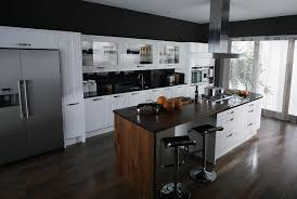 contemporary style kitchen kitchen and decor white cabinets and black countertops kitchen decor large