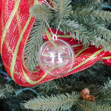 clear plastic fillable ornament 80mm 1105 97