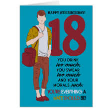 funny 18th birthday cards greeting u0026 photo cards zazzle