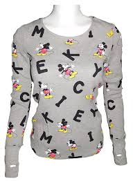 Disney Clothes For Juniors Amazon Com Disney Mickey Mouse Juniors Women U0027s Thermal Long