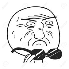 Meme Guy - guy meme face for any design royalty fri clipart vektorer och