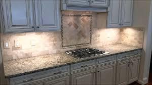 herringbone backsplash subway tile kitchen with herringbone inlay