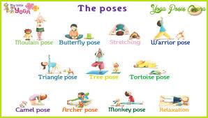 yoga poses pictures printable fun yoga poses for kids yoga poses asana yogaposesasana com